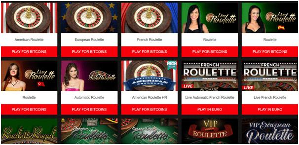 Onlien Bitcoin Casinos -Roulette