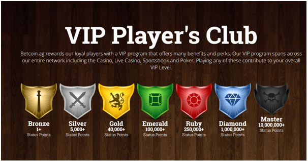 Betcoin Casino VIP Players Club