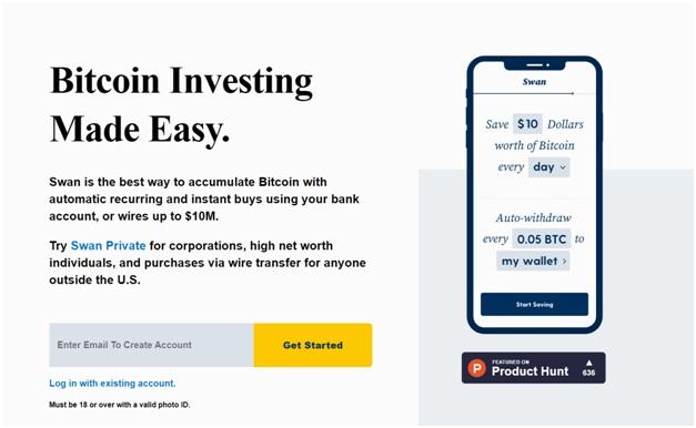 Swan bitcoin