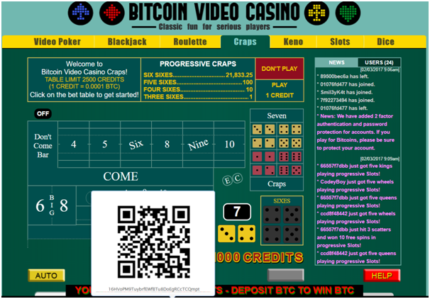 Bitcoin Video Casino Deposits