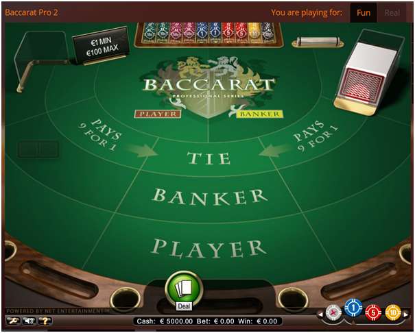 Baccarat- How to play