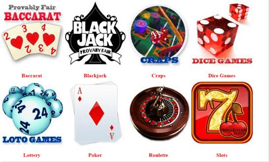 Provably Fair casino games