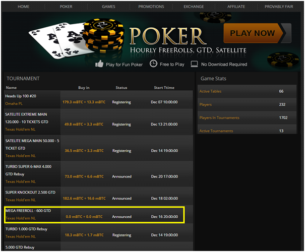 poker freerolls to play