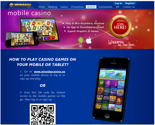 Win a day casino- Play mobile games