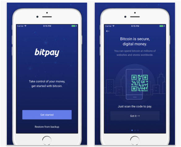 Bitpay app