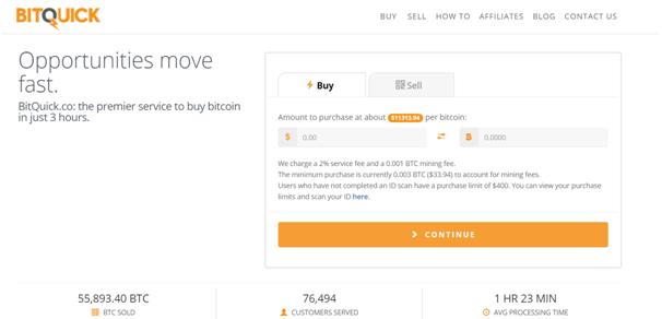 BitQuick BTC Exchange