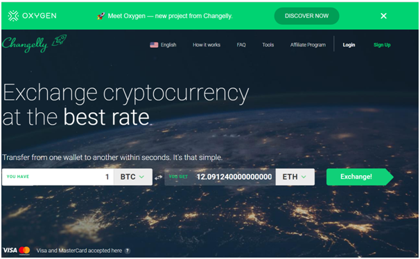 Changelly BTC exchange
