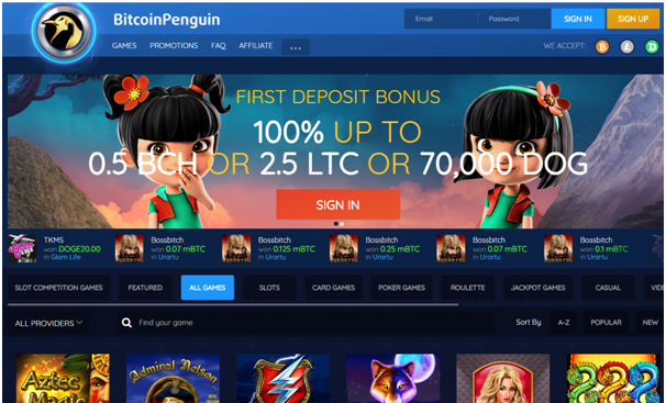 Bitcoin Penguin to play slots