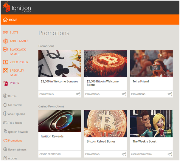 Ignition Bitcoin Casino Bonuses