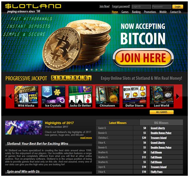 Slotland casino deposits