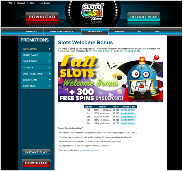 Slotocash casino Bitcoin bonus