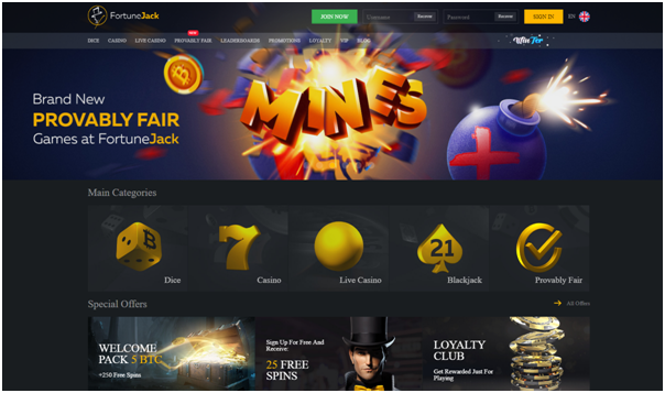 Fortune Jack Bitcoins