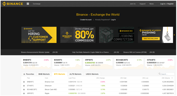 Binance cryptoexchange