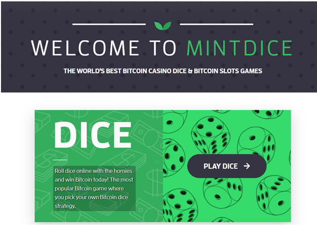 Mint Dice- The new Bitcoin Casino to play slots in 2020
