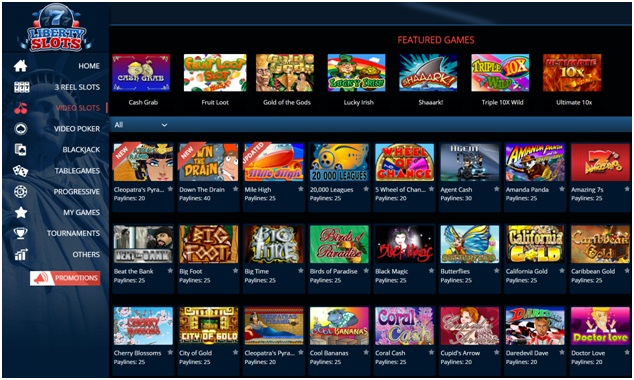 There are over 170 casino games to play at the online casino