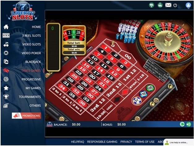 Liberty slots Bitcoin casino offers various table games