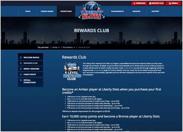 Liberty slots rewards club