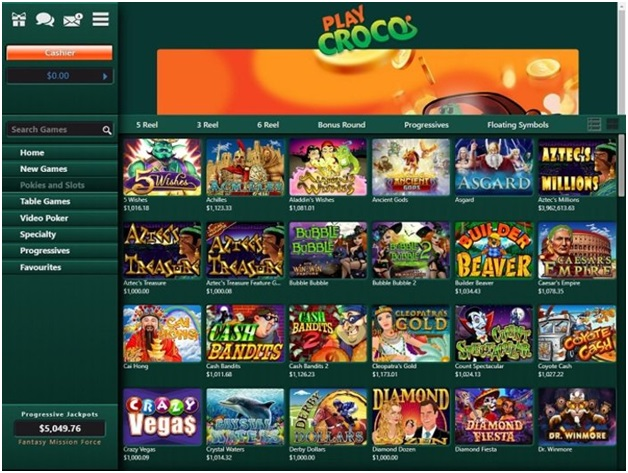 Play games at play croco casino with mobile instantly