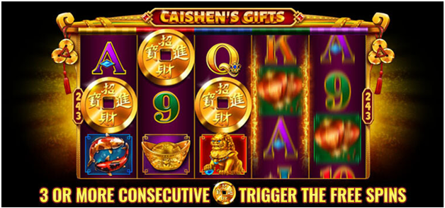 Caishen slot free spins feature