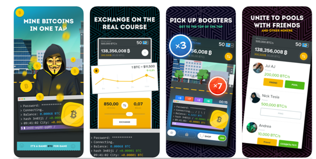The Crypto games- Get Bitcoins app