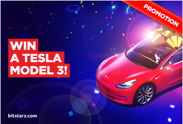 Win a tesla model at Bitstarz casino
