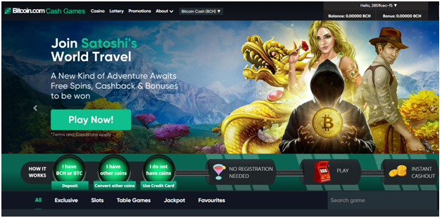 Cashgames Bitcoin Cash Casino