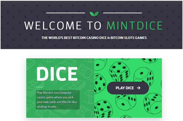 Six Online Casinos That Accept Bitcoin Cash- Mint Dice