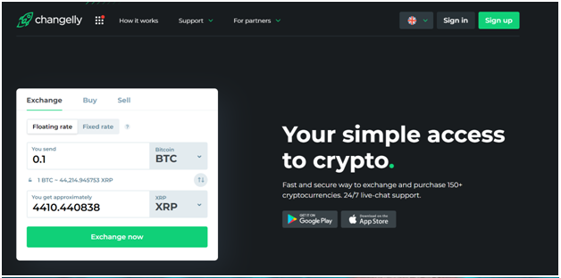 The best way to convert Bitcoin to Ripple with Changelly exchange