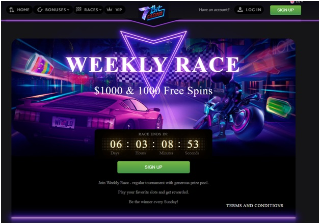 7 bit casino- Weekly race Free Spins