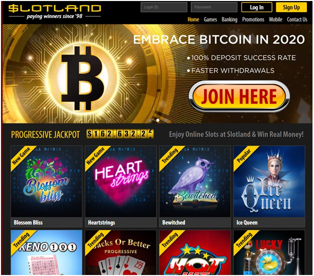 Online casino Bitcoin withdrawal- Slotland