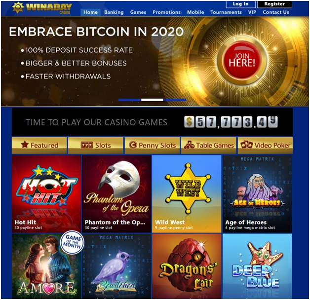 Online casino Bitcoin withdrawal- Win A Day Casino