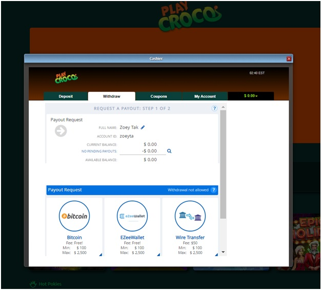 Online casino btc cashout